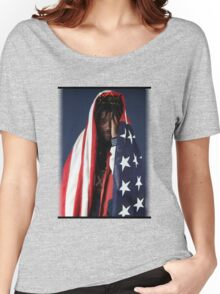 CAPITAL STEEZ - American Flag Women's Relaxed Fit T-Shirt