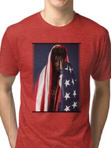 CAPITAL STEEZ - American Flag Tri-blend T-Shirt