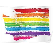washington color strokes Poster
