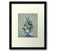 Paul Cezanne Flowers in a Rococo Vase Framed Print