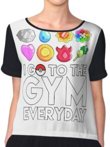 Pokemon - I GO TO THE GYM EVERY DAY - Transparent Chiffon Top