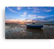 Fishing Boat Sunset Canvas Print