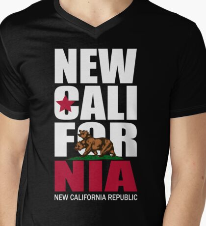 New California Republic Mens V-Neck T-Shirt