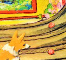Welsh Pembroke Corgi~Cardigan~Dog~Arcade~Skeeball~painting Sticker