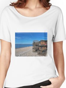 Crab Pots On Monmouth Beach - Lyme Regis Women's Relaxed Fit T-Shirt