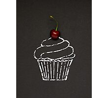 Cherry cupcake. Photographic Print