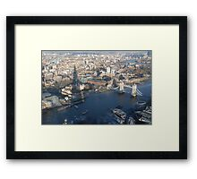 A view from The Shard Framed Print