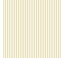 Spicy Mustard Pinstripe on Solid White Photographic Print