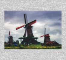 Windmills at Zaanse Schans Kids Tee