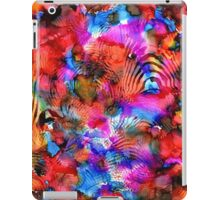 Fuschia Pink Red Yellow Surrealism Futurism Painting iPad Case/Skin