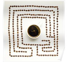 Coffee maze. Poster