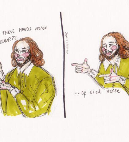 Shakespeare Sick Verse Sticker