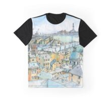 Il Porto (view of Genoa) Graphic T-Shirt