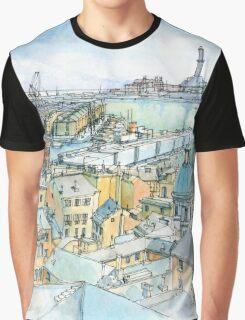 Il Porto (view of Genoa) Graphic T-Shirt