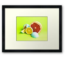 Raw cut. Framed Print