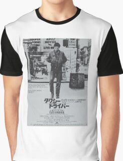 Japanese Taxi Driver Graphic T-Shirt