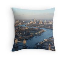A huge view from The Shard Throw Pillow