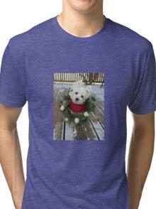 Christmas Winnie Tri-blend T-Shirt