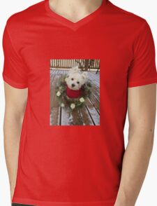 Christmas Winnie Mens V-Neck T-Shirt
