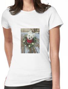 Christmas Winnie Womens Fitted T-Shirt