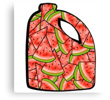Watermelon Bleach Canvas Print