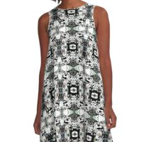into the darkness green black A-Line Dress