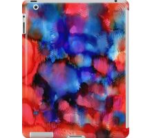 Red Blue abstract ink painting iPad Case/Skin