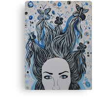 Blue Butterfly chaos Canvas Print