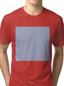 Classic Houndstooth in Delphinium Blue and White Tri-blend T-Shirt