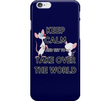 Keep Calm and Try to Take Over the World iPhone Case/Skin