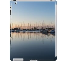 Pink and Blue Serenity - Soft Dawn at the Marina iPad Case/Skin