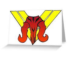 Mandalorian Mercs Symbol Greeting Card