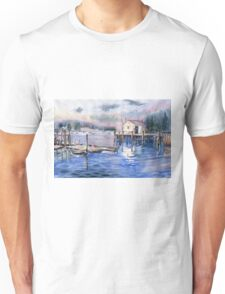 The First Light Of Dawn at Port Clyde Maine Unisex T-Shirt