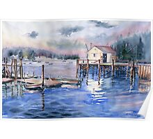 The First Light Of Dawn at Port Clyde Maine Poster