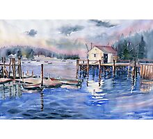 The First Light Of Dawn at Port Clyde Maine Photographic Print