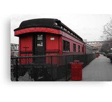 Old Scarlet Train (Red) Canvas Print