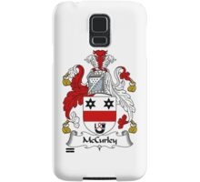 McCurley Coat of Arms / McCurley Family Crest Samsung Galaxy Case/Skin
