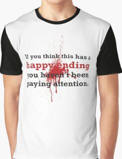 Bloody Happy Ending Graphic T-Shirt