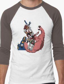 Voltron vs Robeast Cartoon Men's Baseball ¾ T-Shirt