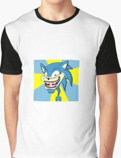 Creepy Sonic Graphic T-Shirt