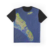 Bahamas Andros Island Nassau Caribbean Satellite Image Graphic T-Shirt