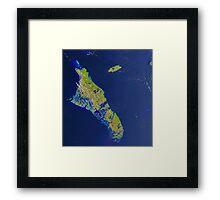 Bahamas Andros Island Nassau Caribbean Satellite Image Framed Print