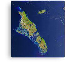 Bahamas Andros Island Nassau Caribbean Satellite Image Canvas Print