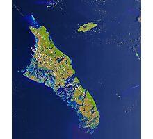 Bahamas Andros Island Nassau Caribbean Satellite Image Photographic Print
