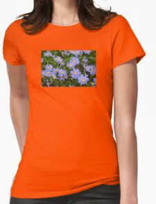 Periwinkle Flowers Womens Fitted T-Shirt