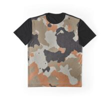 Fashion Orange Camouflage  Graphic T-Shirt