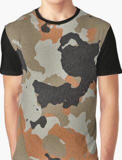 Fashion Orange Camouflage  Graphic T-Shirt