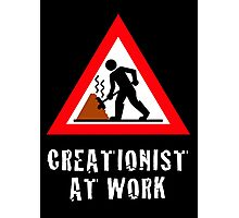 Creationist at Work  (Dark Backgrounds) Photographic Print