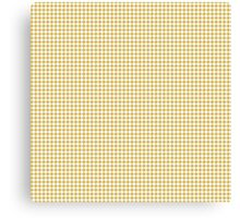 Classic Houndstooth in Spicy Mustard Yellow and White Canvas Print