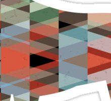 Harrier Hound - Colorful Geometric Pattern Silhouette - Plaid Sticker